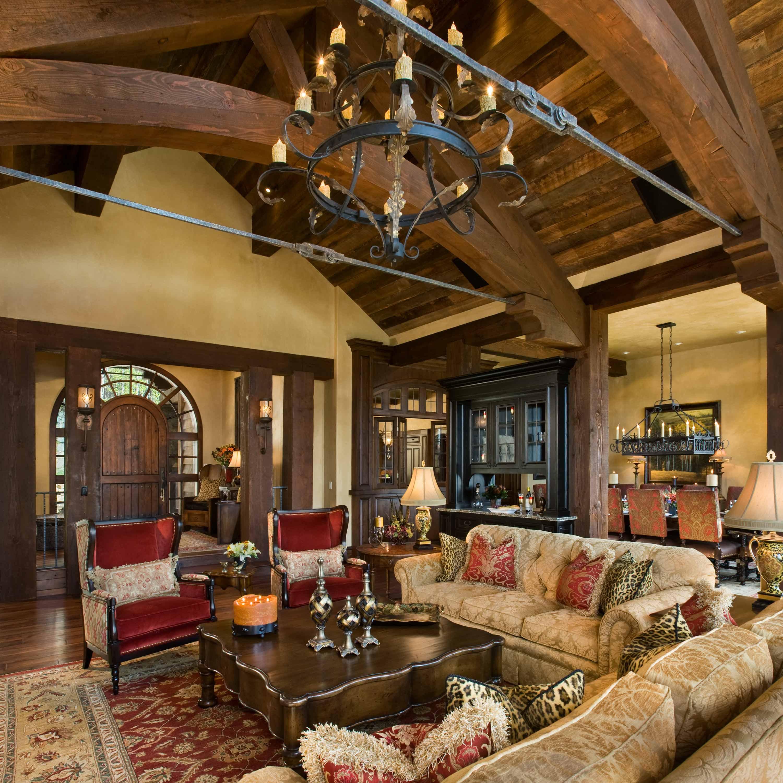 Blosser residence locati for Rustic elegant living room